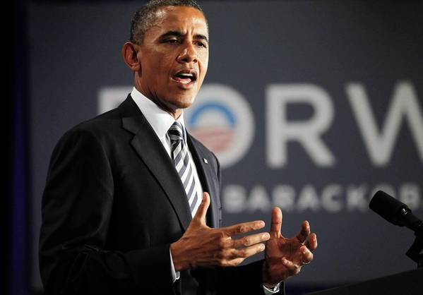 U.S. President Barack Obama delivers remarks at an election campaign fundraiser in Stamford, Conn.