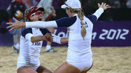 Beach volleyball upset