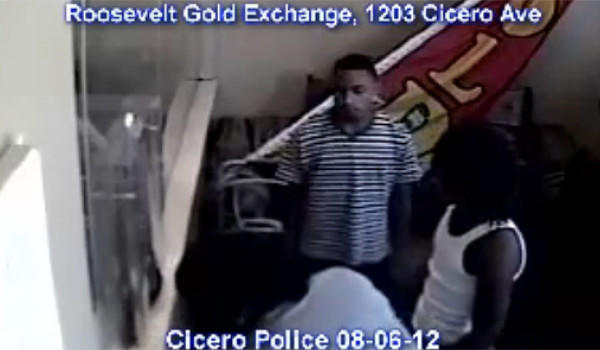 Three men or boys who robbed a Cicero jewelry store this afternoon, tying up the clerk and stealing $40,000 worth of jewelry.