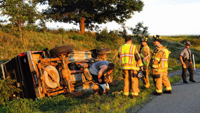 State police and Somerset Volunteer Fire Department responded to an accident on Route 219 at 6:50 p.m. Tuesday.