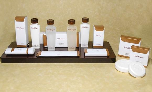 Ferragamo hotel toiletries