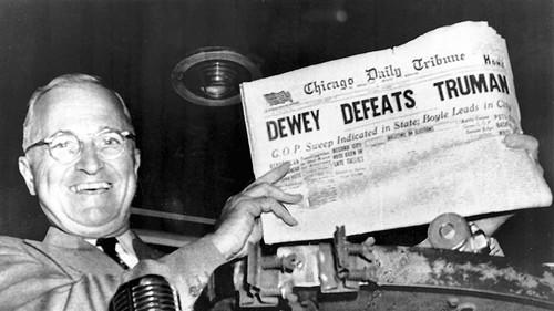 Image result for truman holding newspaper