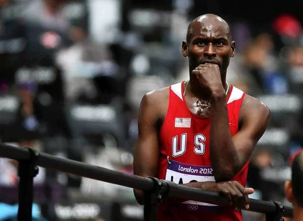 Bernard Lagat of the U.S. reflects after his Men's 5000m round 1 heat at the London 2012 Olympic Games.