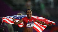 PICTURES: Kellie Wells wins bronze medal