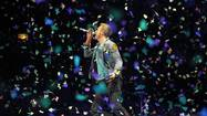 "On Coldplay's latest album, ""Mylo Xyloto,"" the British quartet traces the story of a desperate couple running from the unnamed bad guys. ""From underneath the rubble,"" Chris Martin intones, ""sing a rebel song."""