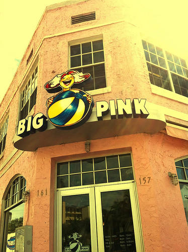 Michael Phelps' 40 favorite things [Pictures]: Big Pink in Miami. Even though Phelps has his hometown favorites, he travels a lot. If youre in Miami, check out this breakfast place where he recommends the burritos.