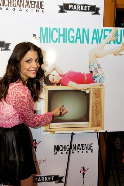 Reality TV star-turned-talk show host Bethenny Frankel celebrates her Michigan Avenue magazine cover at Market August 2, 2012.