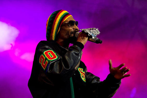 Rapper Snoop Dogg performs on stage during a concert in Arendal, June 28, 2012.