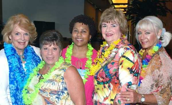 Among those who made last weeks fundraiser a success were guild members, from left, Sue Ann Gordon, Connie Lawless, Glenda Jones, Veronica Chavoor and Max Andrews.
