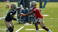 Golson, Hendrix in tight QB race to start Notre Dame's opener
