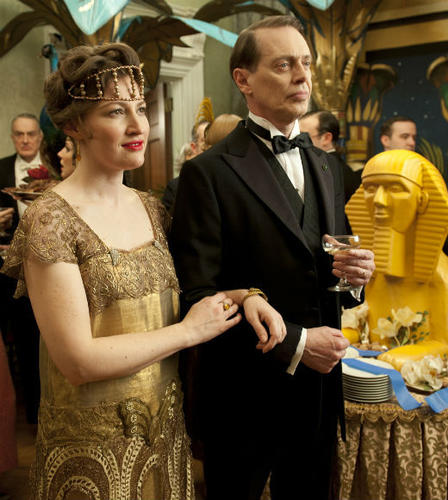 Steve Buscemi as Nucky Thompson; Kelly Macdonald as Margaret Thompson