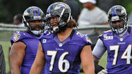 Lumbering around the Ravens' practice field, offensive lineman Jah Reid has reached the point where he can jog without pain.