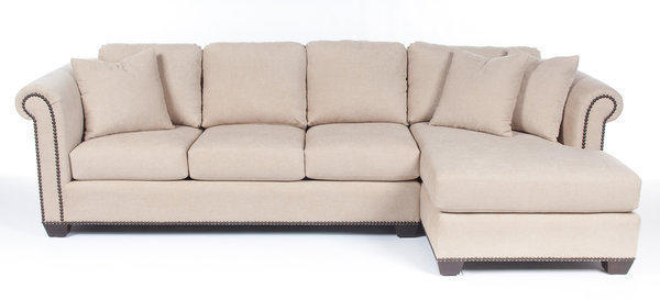 Exact pricing has not been released, but sofas in Costco's new Jennifer Adams Home collection are expected to run from about $1,500 to $3,100. The piece here is shown in a bouclé fabric.