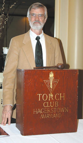 Jim Marsden of the Hagerstown Torch Club.
