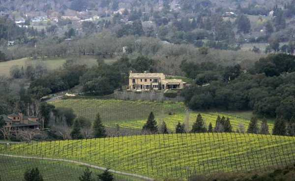The green went toward grapes in 2008, when David snatched up a Napa Valley vineyard as a gift to Victoria.