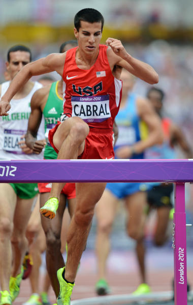 Glastonbury's Donn Cabral finished eighth in the steeplechase.