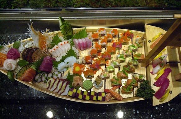 "Sushi/sashimi sampler at <a href=""http://findlocal.orlandosentinel.com/search?utf8=✓&q=amura&commit=Search&type=businesses"">Amura Japanese restaurant</a>: 54 W. Church St., Orlando, 407-316-8500; 7786 W. Sand Lake Road, Orlando, 407-370-0007; 950 Market Promenade Ave., Lake Mary, 407-936-6001; <a href=""http://amura.com"">amura.com</a>"