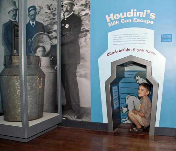 "Photo of Houdini artifact from the ""Magic"" exhibition at the Chicago History Museum."
