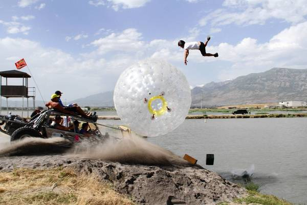 The Nitro Circus team in action.