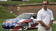 Baltimore native Bunting unveils 'Star-Spangled' car for American Le Mans race