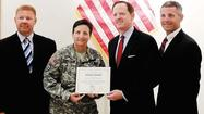 With Col. Cheri A. Provancha's days as commander of Letterkenny Army Depot drawing to a close, U.S. Sen. Pat Toomey stopped by the Chambersburg base on Wednesday to formally recognize the commander.