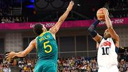LONDON -- Kobe Bryant rallied from a scoreless first half with six 3-pointers and LeBron James added a triple double as the U.S. men's basketball eliminated pesky, physical Australia 119-86 in a quarterfinal Wednesday night at North Greenwich Arena.