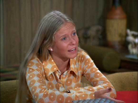 """Marcia, Marcia, Marcia!""<br><br> With that, Jan Brady established herself as the patron saint of  middle children -- ignored between her perfect older sister and her adorable younger sister. <br><br>She didn't do so well with plotlines either -- while Marcia got to make goo-goo eyes at Davy Jones, and Cindy got to tap-dance as Shirley Temple, Jan is most notable for adopting a truly hideous black curly wig to set herself apart from her sisters."