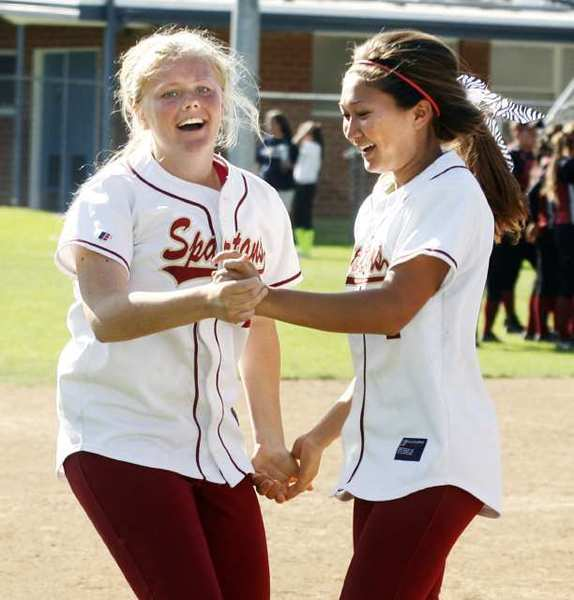 Kelsey Drange, left, and Selina Mohr of La Cañada High are both All-Area second-team selections.