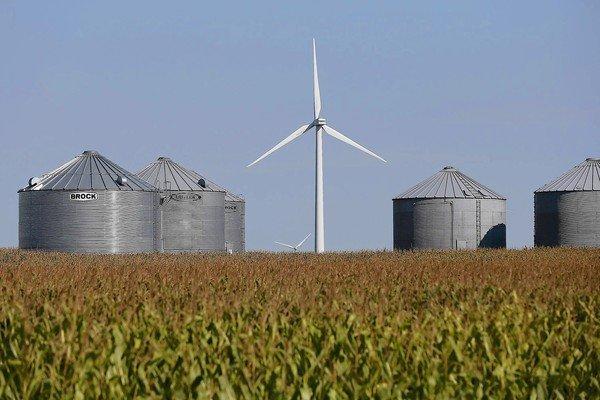 Wind operations have taken root on many Midwest farms, including this cornfield near Colo, Iowa.