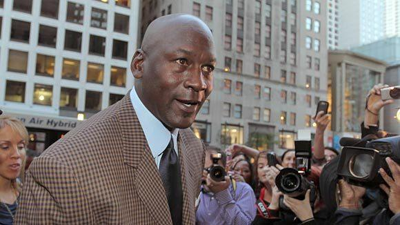 Michael Jordan makes an appearance at the new steakhouse bearing his name on Michigan Avenue in Chicago in September.