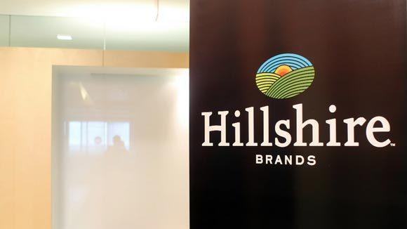 A Hillshire Brands logo at Sara Lee's headquarters in Downers Grove.