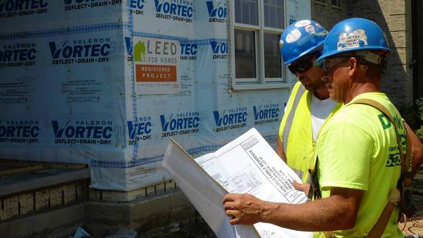 The Chicago Regional Council of Carpenters is building a state-of-the-art green home in Lemont, and a TV crew is documenting every step of the process.
