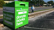 An online bookseller that donates a percentage of its proceeds to pro-literacy and non-profit education groups has installed drop boxes for used and new books across Central Florida to fuel the organization's cause.