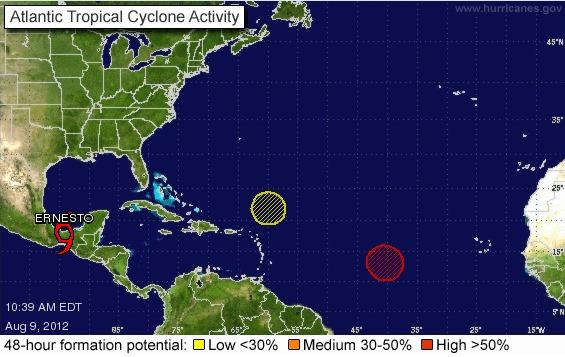 Tropical activity stirring