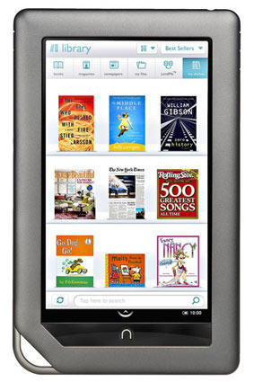 The Barnes & Noble Nook Color electronic reader