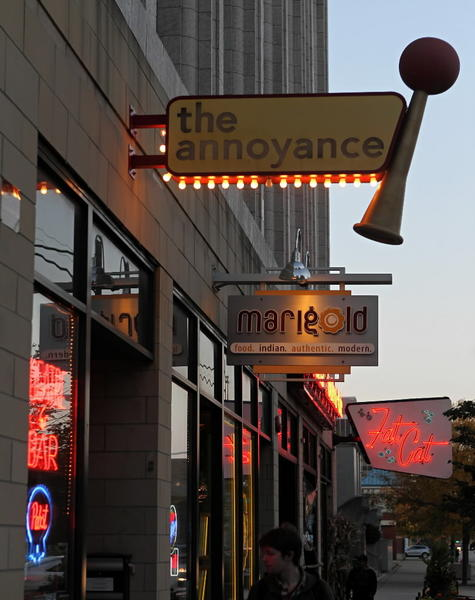 The Annoyance Theatre and Marigold restaurant in Uptown.