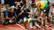 Usain Bolt wins back-to-back sprint doubles