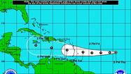 Tropical Depression 7 formed in the Central Atlantic on Thursday afternoon and for now is projected to pass south of Florida and grow no stronger than a tropical storm over the next five days.