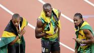 "<a href=""http://www.london2012.com/athlete/bolt-usain-1020434/"" target=""_blank"">Usain Bolt</a> carved his name in the Olympic record books Thursday by claiming gold in the <a href=""http://www.london2012.com/athletics/event/men-200m/index.html?v=20120809-215550423"" target=""_blank"">200 meters in London</a>as he led a Jamaican sweep of the medal positions."
