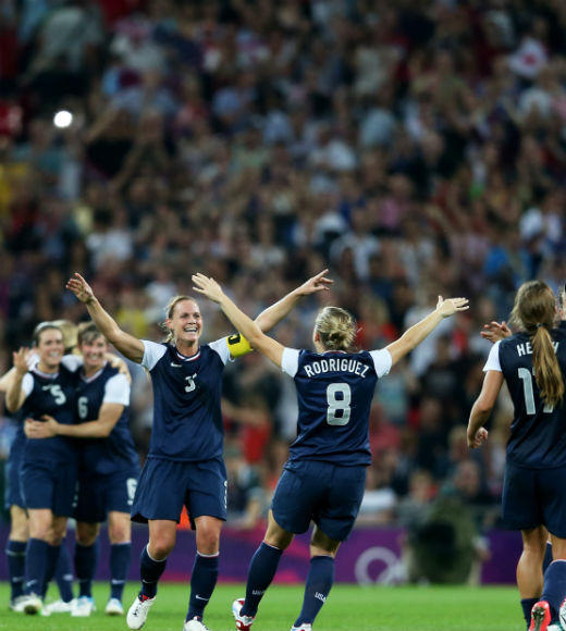 The U.S. Women's Soccer Team took the gold in the match against Japan on August 9. Carli Lloyd scored two goals while Japan only scored one.