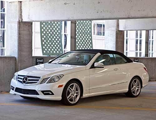With its power-operated soft-top in place, the E550 cabriolet's roofline is very similar to the handsome E-Class coupe.