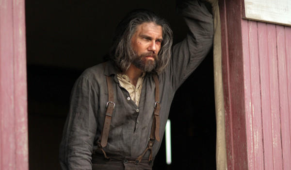"Anson Mount's character, Cullen Bohannon, has sunk low in Season 2 of ""Hell on Wheels."""