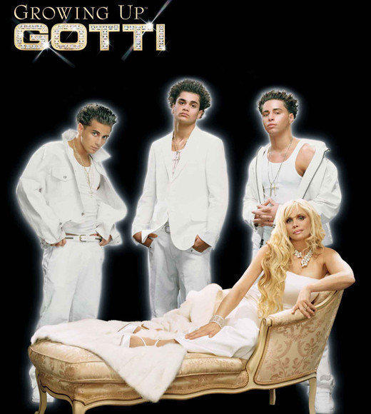 "Somewhere in the TV time continuum between ""The Sopranos"" and ""Mob Wives,"" there was ""Growing Up Gotti"" -- an A&E reality show that brought cameras into Victoria Gotti's (daughter of John) Long Island home. <br /><br />She wore a lot of white, and her sons Carmine, Frank and John used enough hair products to make Paulie D jealous. Between the family and her bizarre friends and assistants -- including Robert (""Oh My Gawd, Victoria"") and drunken handyman Luigi -- this was one weird look at the remnants of the Gambino crime family."