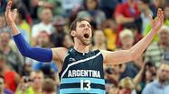 LONDON — Wrapped in his country's flag, his voice hoarse from screaming and sinus problems, Andres Nocioni tried to summarize the bond his teammates share in over a decade-long commitment to Argentina's national team.