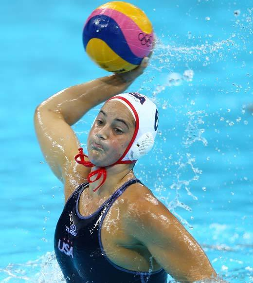 "The U.S. women's water polo team finally got to the top of the podium, defeating Spain on the back of Maggie Steffens (pictured) five goals. The team had previously earned a bronze and two silvers. <Br><BR>-- <i><a href=""http://twitter.com/andrealeigh203"">Andrea Reiher</a>, <a href=""http://www.zap2it.com"">Zap2it</a></i>"