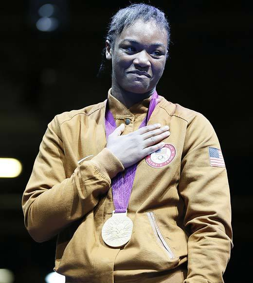 "Women's boxing is brand new to the Summer Olympics in 2012 and 17-year-old U.S. boxer Claressa Shields has carved her name in the record books as the first middleweight gold medalist. She won a 19-12 decision over Russia's Nadezda Torlopova Thursday (Aug. 9) and says of her gold medal, ""I will probably wear the medal everyday for the first year.""<Br><BR>-- <i><a href=""http://twitter.com/andrealeigh203"">Andrea Reiher</a>, <a href=""http://www.zap2it.com"">Zap2it</a></i>"