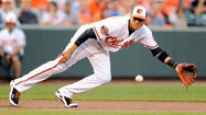 Thursday at Camden Yards was supposed to be about third baseman Manny Machado, the Orioles' top hitting prospect, who was making his big league debut directly out of Double-A.