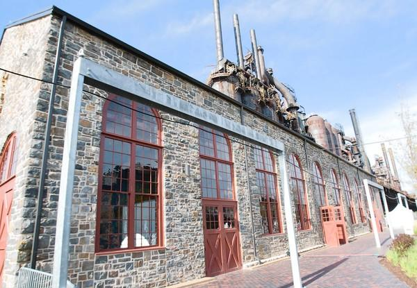 Bethlehem Landing at SteelStacks, the new visitors center in the 1863 Stock House, has launched the first phase of its exhibits in the $5.5 million restoration of the oldest building still standing at the former Bethlehem Steel plant.