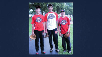 From left: brothers Riley and Connor Christner of Meyersdale and Braxton Roxby of Windber will represent Somerset County as members of the B. Hale Boilers in the Pony League World Series.
