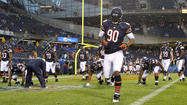 Bears linebacker <b>Brian Urlacher</b> was not on the sideline for Thursday night's exhibition opener against the Broncos. He was excused for personal reasons Monday and has been away from the team since.